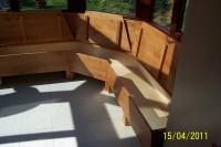 Eckbank und Tisch aus Ahorn gebeizt 2