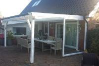 Terrassendach mit Echtglas