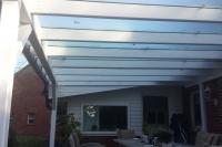 Terrassendach mit Echtglas 1