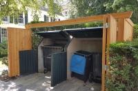 Müllcontainerverkleidung mit Falttüren 2